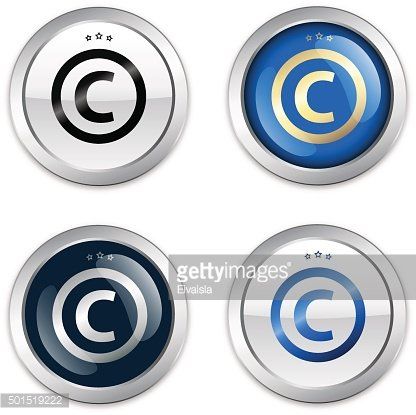 Copyright seal or icon with © symbol