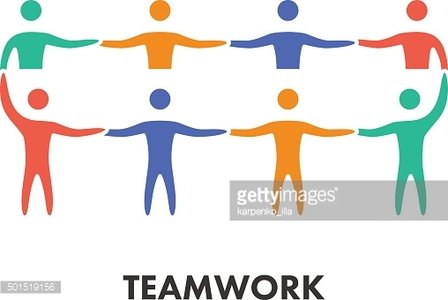 Line icon teamwork for business