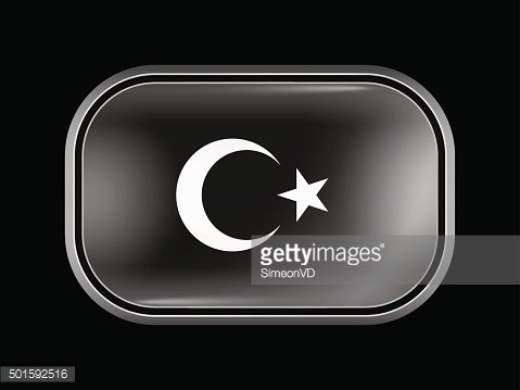 Turkey Variant Flag. Rectangular Shape with Rounded Corners