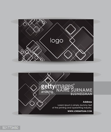Abstract squares - Business card vector design template.