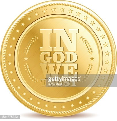 golden finance isolated dollar coin with text