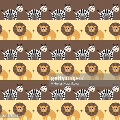 African animals seamless pattern.