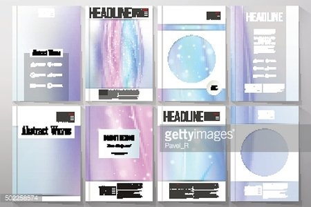 Set of business templates for brochure, flyer or booklet. Abstract