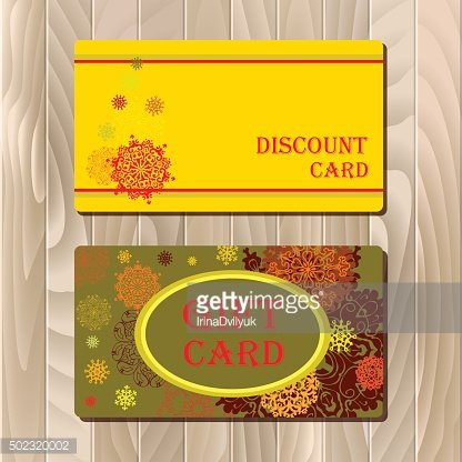 Discount Card Voucher Gift Certificate Coupon Template Sale