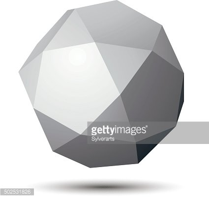 Contemporary technology black and white 3d shape