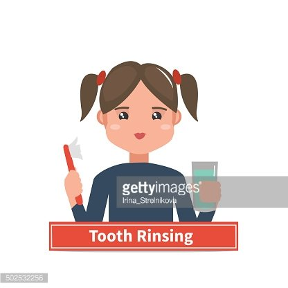 Tooth rinsing