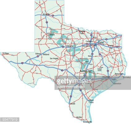 Road Map Of Texas State.Texas State Road Map Premium Clipart Clipartlogo Com