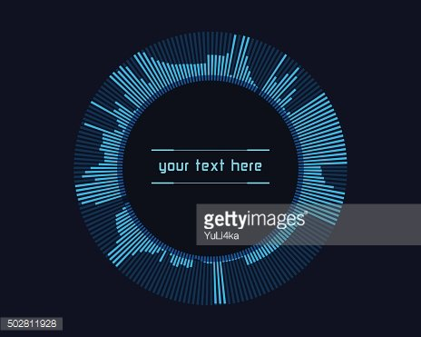 Abstract futuristic infographics