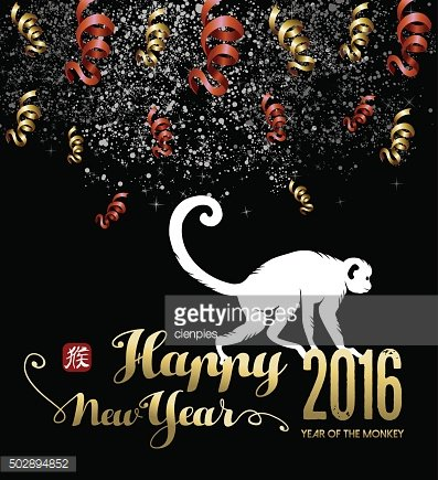 Chinese new year 2016 firework silhouette night