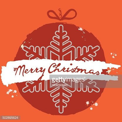 Christmas ball. Grunge Style. Vector Christmas card. Christmas b