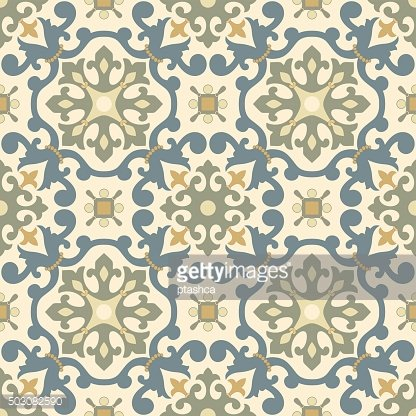 Traditional Arabic ornament seamless. Floral Ornamental pattern. Vector. Background