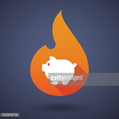 Flame icon with a pig