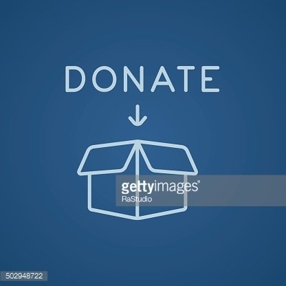 Donation box line icon