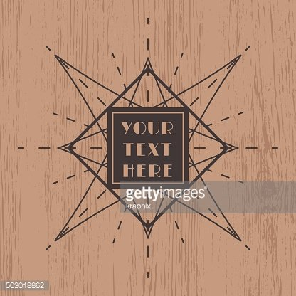vintage frame design on wood background