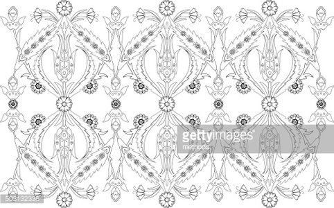 Ottoman Turkish Design Pattern Vector