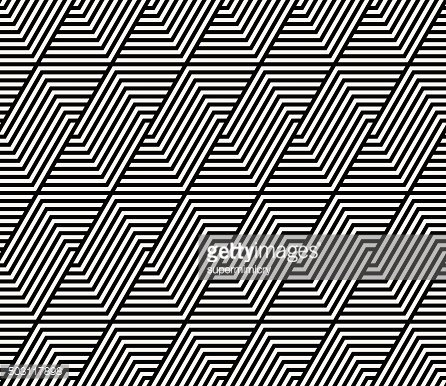 monochrome striped vector pattern