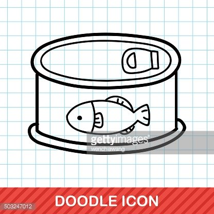 Fish feed can doodle
