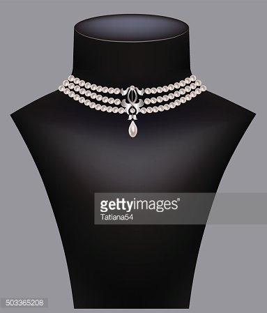 Necklace on a mannequin