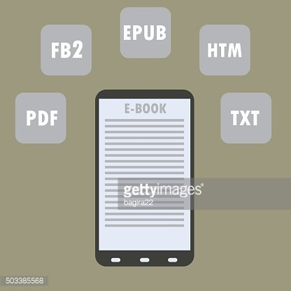 Electronic Book (e-book) Reader with Different Formats