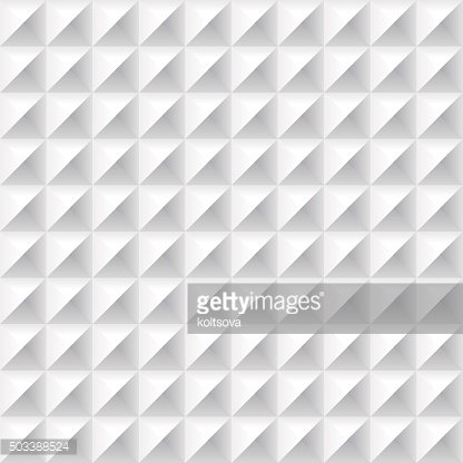 Geometrical abstract seamless pattern in white color