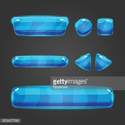 Set of vector button for game design - 2