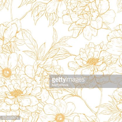Floral pattern with flowers.