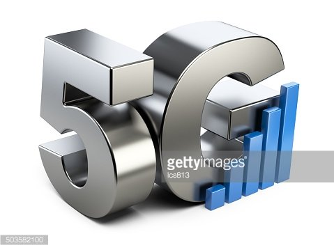 5G steel sign. High speed mobile web technology.