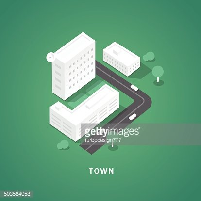 Set of the isometric city buildings