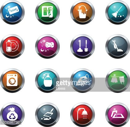 Cleaning company icons