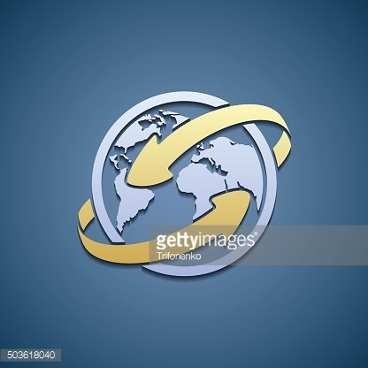 Logo Planet Earth with arrows.