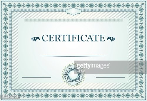 Certificate border and template design