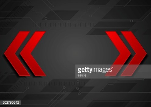 Abstract geometric corporate background with red arrows