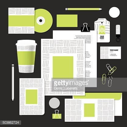 Vector stationery template design with wave