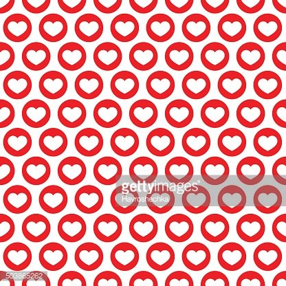 Red heart vector seamless pattern