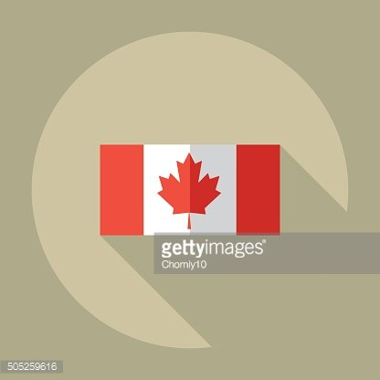 Flat modern design with shadow icons flag of Canada