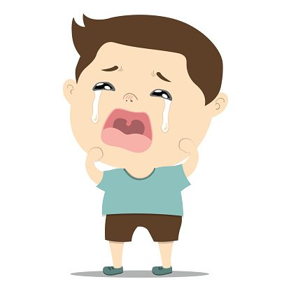 Sad Little Cute Baby Boy Crying premium clipart ...