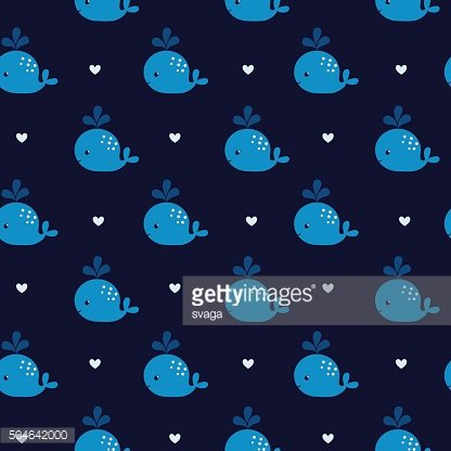 Cute blue whales on a dark background.