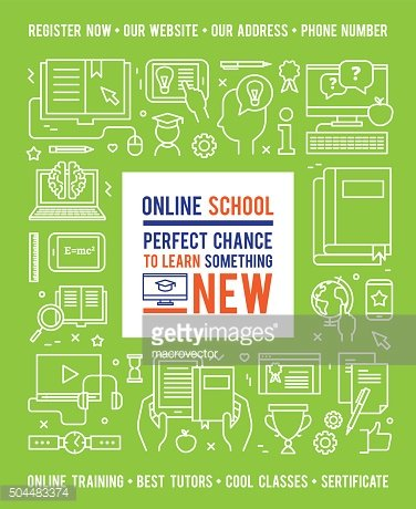 Online School Education Design Concept