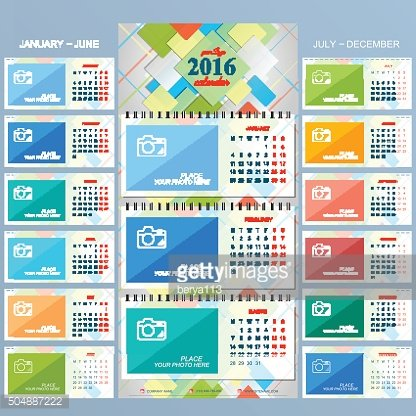 Wall calendar 2016 years . Vector design template with place ...
