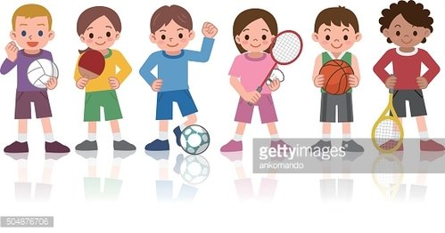 Children to a variety of sports