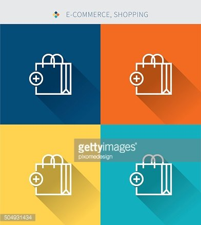 Thin thin line icons set of shopping & e-commerce