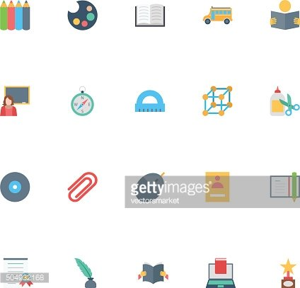 Flat Education Vector Icons 6