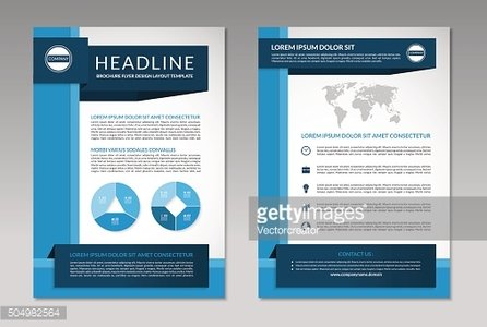 Brochure flyer design layout template. A4 size