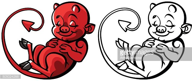 cartoon little devil or Imp - vector illustration