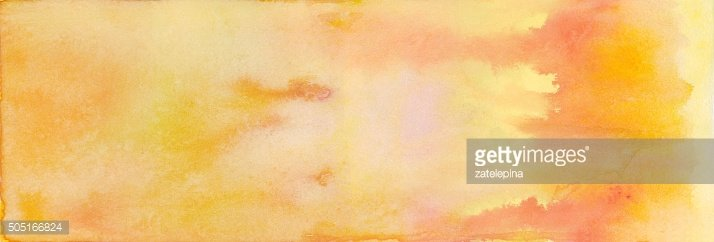orange yellow pink watercolor background. Abstract painting