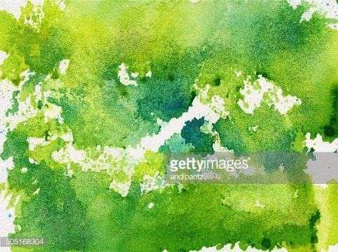 Hand painted abstract textured background with shades of green