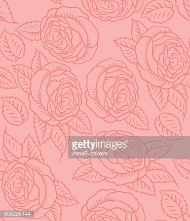 Seamless vector pattern retro roses