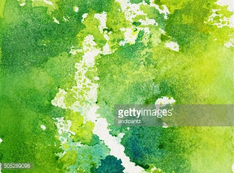 Bright green abstract background with splotches of paint