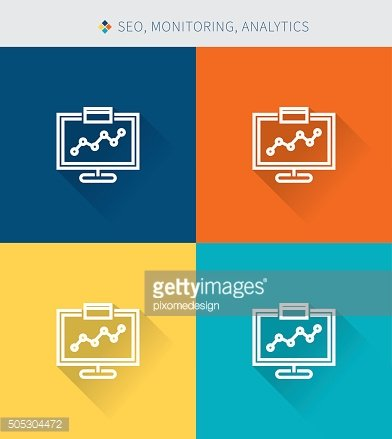Thin thin line icons seo & monitoring and analysis