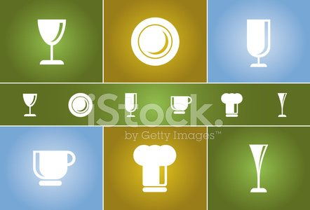 Dinner & Cooking Vector Icon Set #4